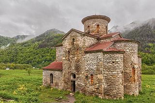 Central Zelenchuksky Church 10th c. Alanian church in Karachay-Cherkessia, Russia