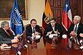 Ceremonia de Deposito del Instrumento de Ratificación al Protocolo Adicional al Tratado Constitutivo de la Unión de Naciones Suramericanas UNASUR. Sobre Compromiso con la Democracia por Parte de la República de Chile (6982664157).jpg