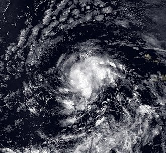 1990 Atlantic hurricane season - Image: Cesar 1 August 1990
