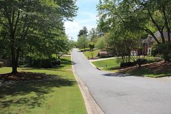 A subdivision in East Cobb