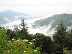 View of hills from Chail