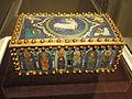 Champleve Enamel Casket, perhaps 1100-1150 AD, perhaps North German, gilded copper and enamel - Cleveland Museum of Art - DSC08540.JPG