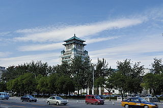 Changan Avenue road in Beijing, China