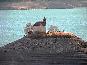Lac Serre Poncon : Îlot saint michel lac de serre ponçon u2014 wikipédia