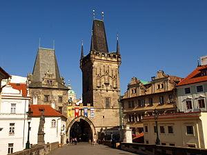Malá Strana Bridge Tower - The tower in 2012