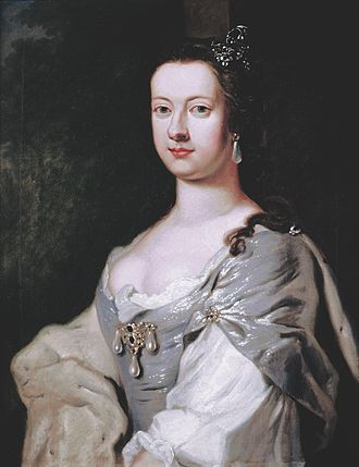 Charlotte Cavendish, Marchioness of Hartington - Lady Charlotte Boyle, possibly by George Knapton