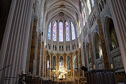 Interior of Chartres Cathedral, from file. Image: Marianne Casamance.