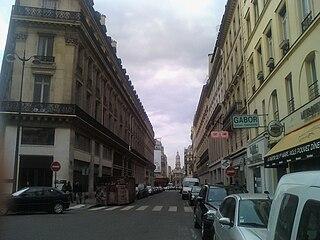Rue de la Chaussée-dAntin street in Paris, France