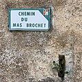 Chemin du Mas Brochet (Beynost), panneau de rue.jpg