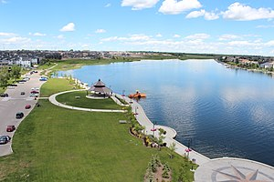 Chestermere - Aerial view of Chestermere