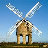 Chesterton windmill against a blue sky