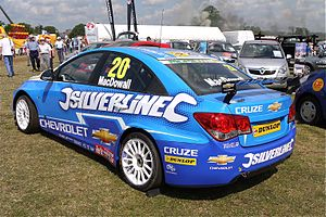 Alex MacDowall - MacDowall's Chevrolet Cruze from the 2011 British Touring Car Championship.