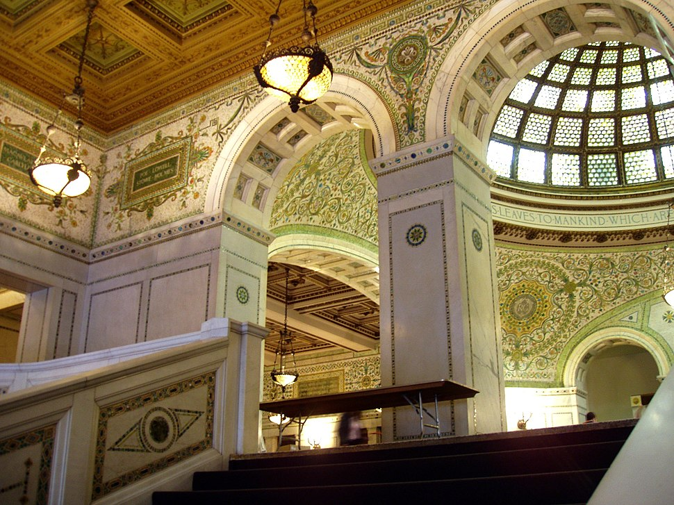 Chicago Cultural Center - Grand Staircase and Preston Bradley Hall