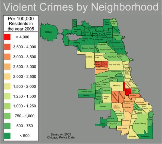 Chicago Urbanist - San jose crime rate map