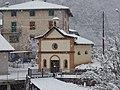 Chiesa della Madonna del Rosario, Prà, innevata.jpg