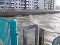 Choppy waters around the Landerneau Pier - geograph.org.uk - 1595666.jpg