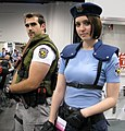 Chris Redfield and Jill Valentine, Resident Evil characters (WonderCon 2013), cropped.jpg