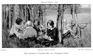 Christabel Cockerell - Bluebells (1903) from Women painters of the world by Walter Shaw Sparrow