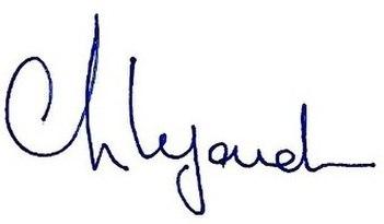 Christine Lagarde's signature