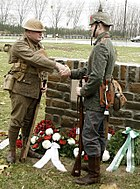 Christmas Truce memorial ceremony 2008