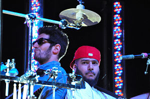 Chromeo - Chromeo performing at the Monolith Festival in 2009. From left: David Macklovitch, Patrick Gemayel