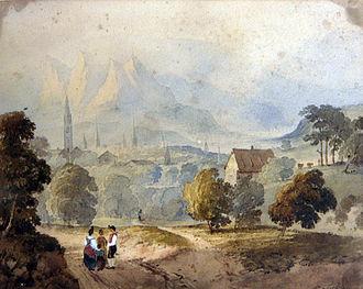 Francis Nicholson (painter) - Chur-Coire by Francis Nicholson