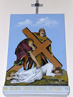 Church of the Assumption of Mary in Kock - Stations of the Cross - 09.jpg