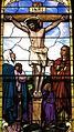 Church of the Sacred Heart (Coshocton, Ohio) - stained glass, Crucifixion.JPG