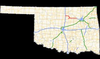 Cimarron Turnpike highway in Oklahoma
