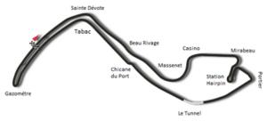 1958 Monaco Grand Prix - Image: Circuit de Monaco 1950