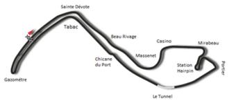 1960 Monaco Grand Prix - Image: Circuit de Monaco 1950