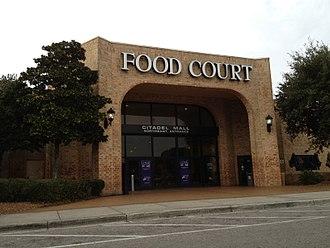 Citadel Mall - Citadel Mall food court entrance, January 2012