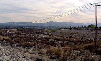City Creek (California) - The nearly-dry bed of City Creek near Highland, California