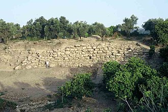 Tell Tweini - City wall of Tell Tweini