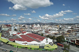 Guatemala city panoramic view