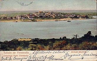 Ciudad Bolívar - View of Ciudad Bolívar in 1912.