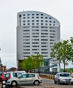 Clayton Hotel, Limerick - Clayton Hotel Limerick viewed from Steamboat Quay.