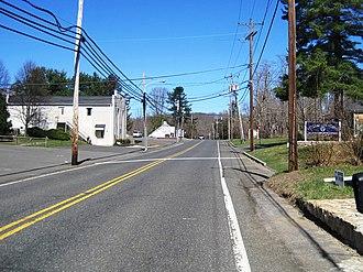 Clarksburg, New Jersey - Center of Clarksburg along Stage Coach Road