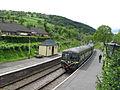 Class 127 DMU-Railcar at Glyndyfrdwy Station, Llangollen Railway (7882487986).jpg