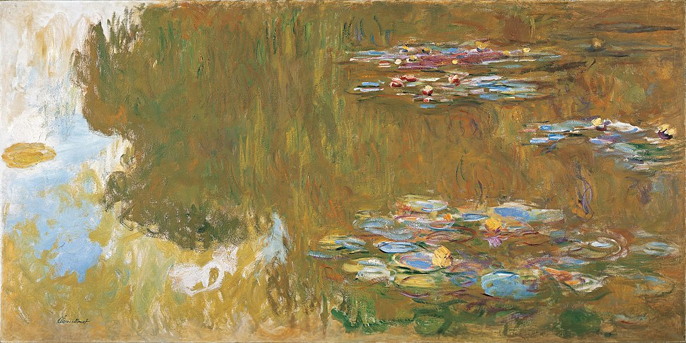 Claude Monet, The Water Lily Pond, c. 1917-19, frame cropped, Google Art Project