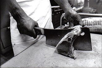 Cleaver - A cleaver in use