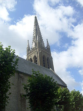 Clocher de l'église Saint-Omer.