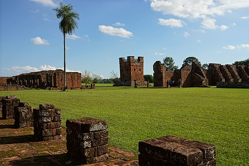 Clock tower - Jesuit Reduction of Trinidad - Paraguay.JPG