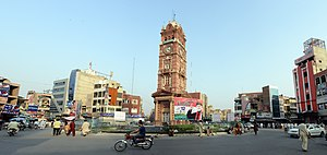 Clocktower Faisalabad, Panorama.jpg