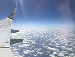 Clouds over East China Sea from plane for Fukuoka Airport.jpg