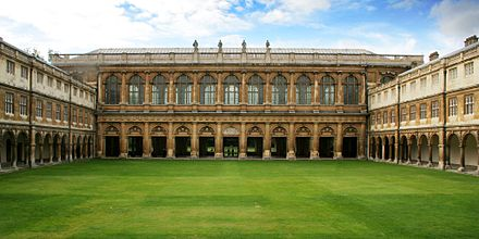 The Wren Library at Nevile's Court Cmglee Cambridge Trinity College Neviles Court.jpg