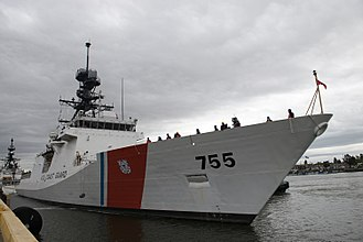 USCGC Munro (WMSL-755) - Image: Coast Guard Cutter Munro returns to homeport 170406 G MR731 090