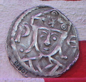 Valdemar II of Denmark - Coin minted for King Valdemar II, Lund University History Museum