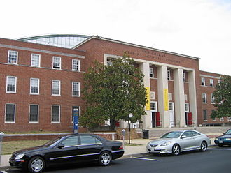 Maryland Terrapins men's basketball - Cole Field House exterior, summer 2007