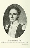 Photograph of a painting of James Tod